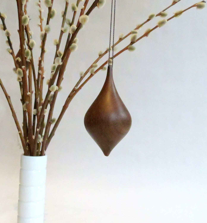Tree ornament wood christmas ornament via etsy turned