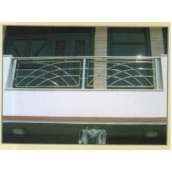 Stainless balcony railings stainless steel balcony for Stainless steel balcony grill design