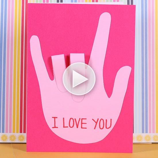 sign language valentine's day card | sign language, language and, Ideas