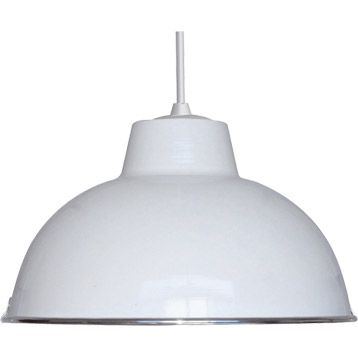 Suspension Mars BOUDET en métal blanc, noir ou rouge - diamètre 31 - Hauteur Table Salle A Manger