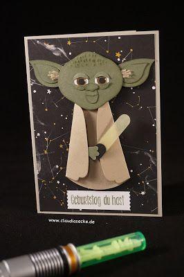 Star Wars Karte.Star Wars Yoda Geburtstag Karte Birthday Stamp