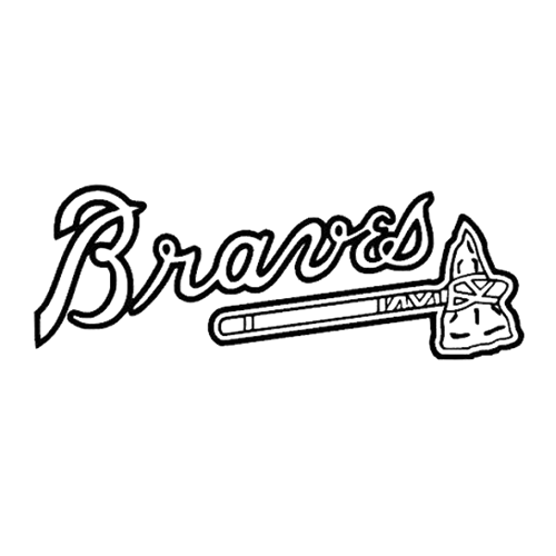 Mlb atlanta braves die cut vinyl decal pv982