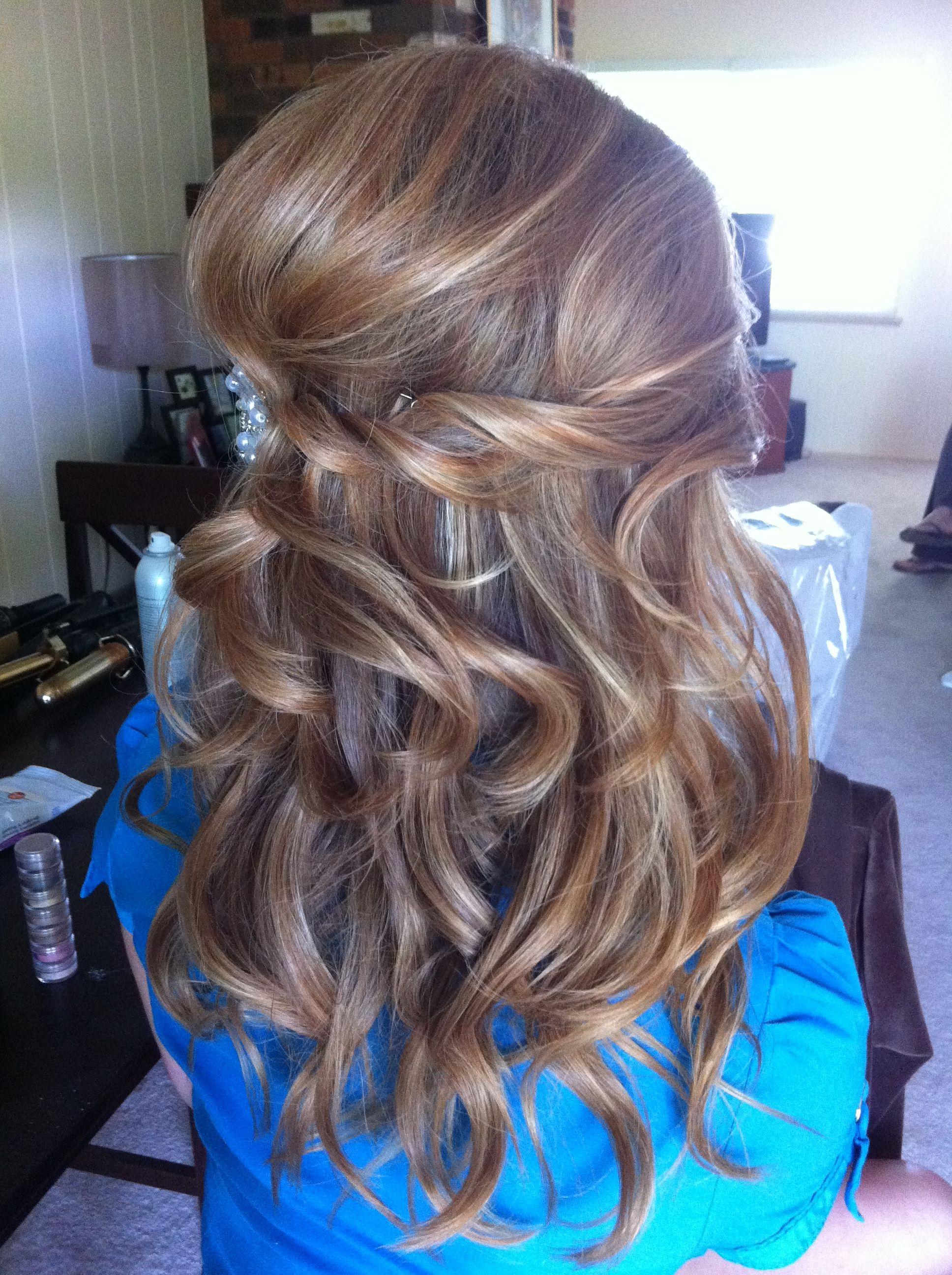 Loose waves w waterfall braid | Loose hairstyles, Hair ...