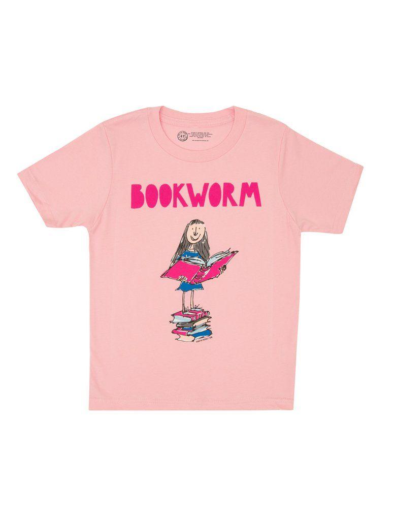 Kids Matilda Bookworm T Shirt Book Worms Bookworm Shirt Shirts