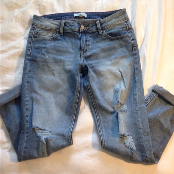 Boyfriend jeans These boyfriend jeans are straight legged and have ...