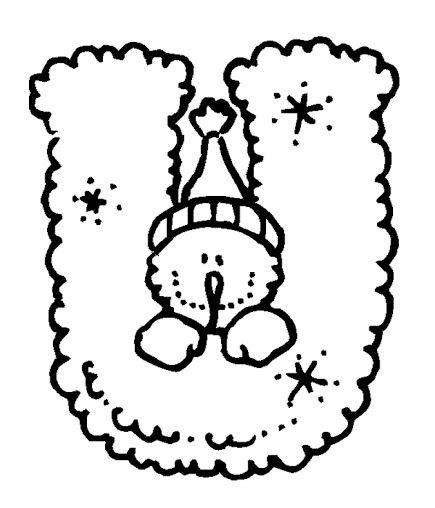 BAÚL DE NAVIDAD Abecedario Copos de Nieve 2 de Navidad para - navidad para colorear