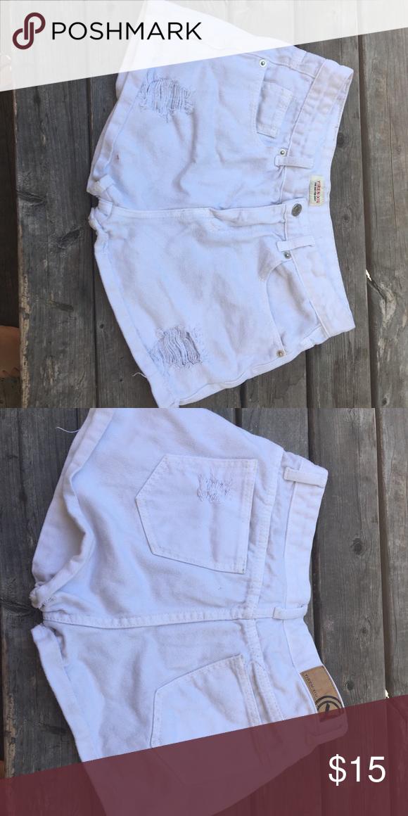 7d75b6ae86619 White Denim Shorts Ripped Denim Shorts