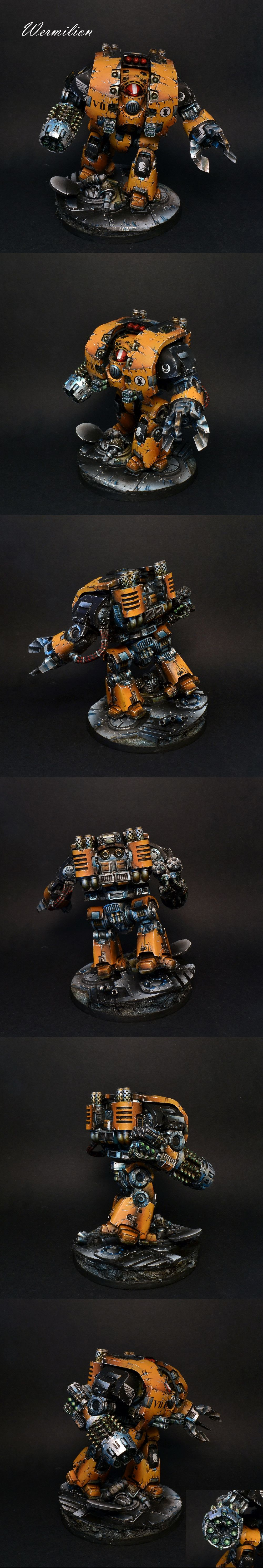 Imperial Fist Leviathan dreadnought, table top