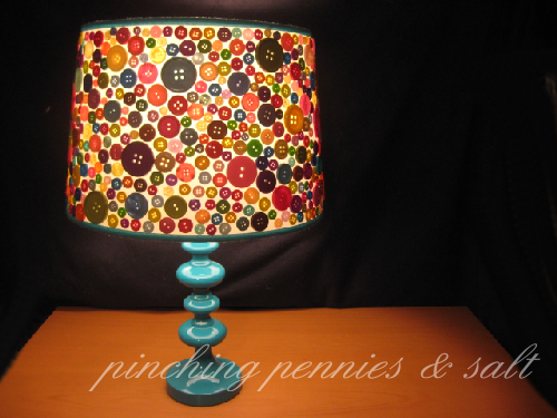 Crafty Button Lampshade