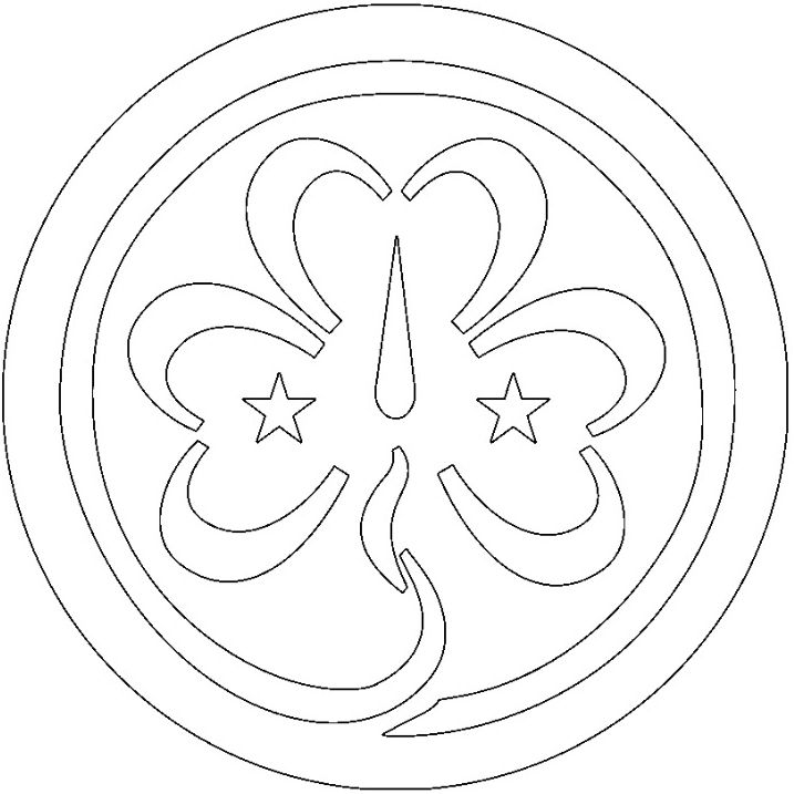 Trefoil Coloring Page Girl Scout Trefoil Brownie Girl Scout