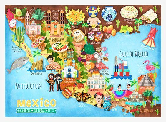carte touristique du mexique