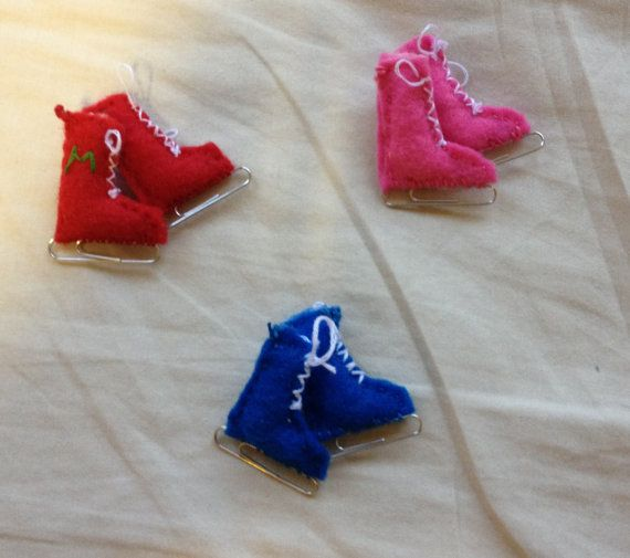 Paperclip Ice Skates by KittyKatEmbroidery on Etsy