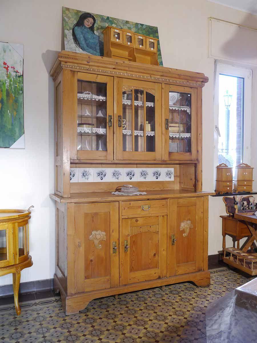 Buffetschrank Aus Weichholz Antik Um Kuchenmobel Landhaus Weis