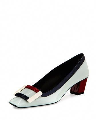 00ee7bfdb Belle+Vivier+Graphic+Patent+Pump