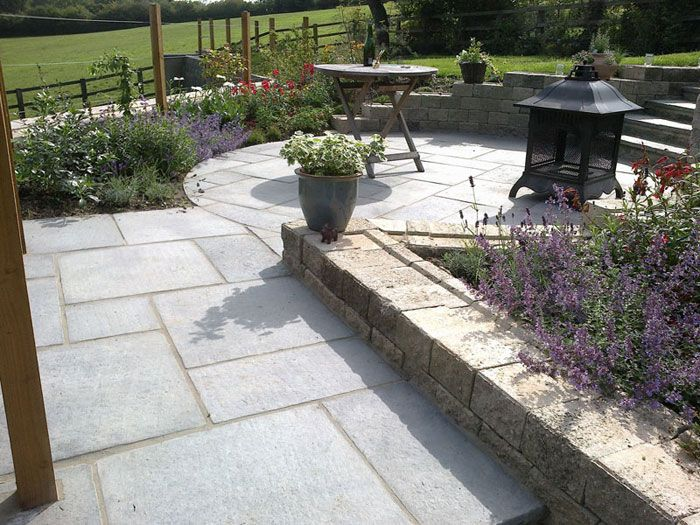 garden ideas marshalls firedstone paving