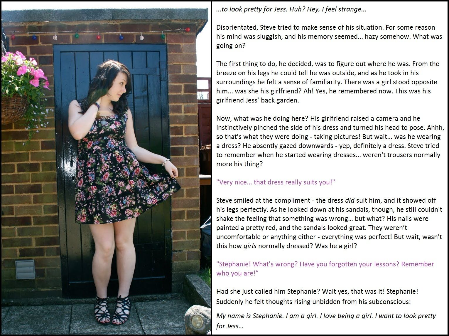 Emily S Tg Captions Forced To Be Pretty Sissy Captions