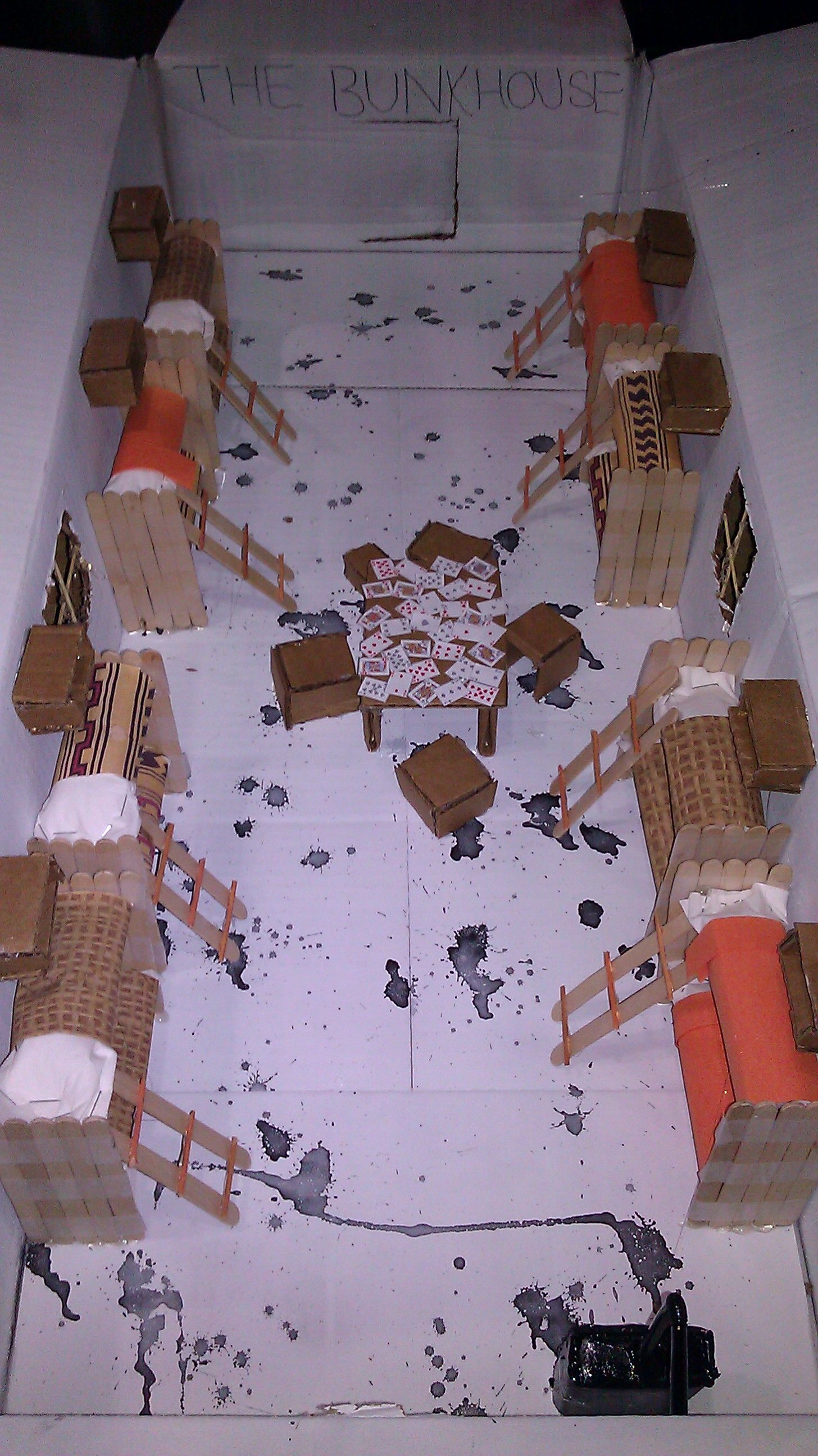 amna s english project for of mice and men the bunk house for  amna s english project for of mice and men the bunk house
