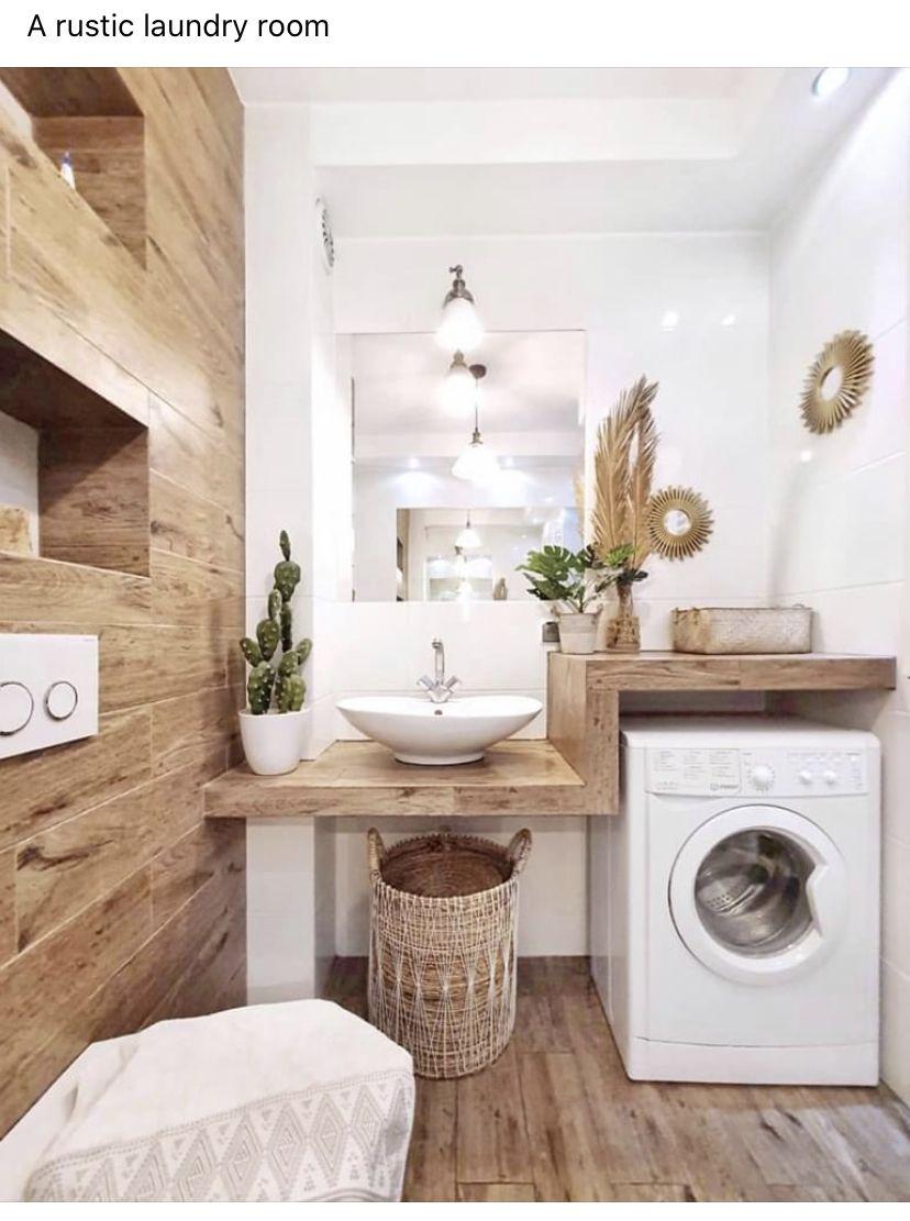 Pin By Gina Gertsch On Projecten Om Te Proberen Laundry Room Bathroom Laundry In Bathroom Modern Laundry Rooms