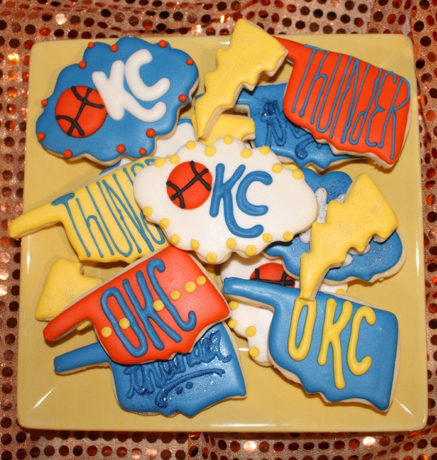OKC Oklahoma City Thunder NBA Basketball Sugar Cookies