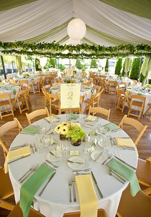 round table settings for weddings