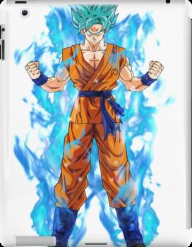 Goku Blue Hair Super Saiyan Ipad Retina 3 2 Snap Case By Animelovah Dragon Ball Super Dragon Ball Gt Goku