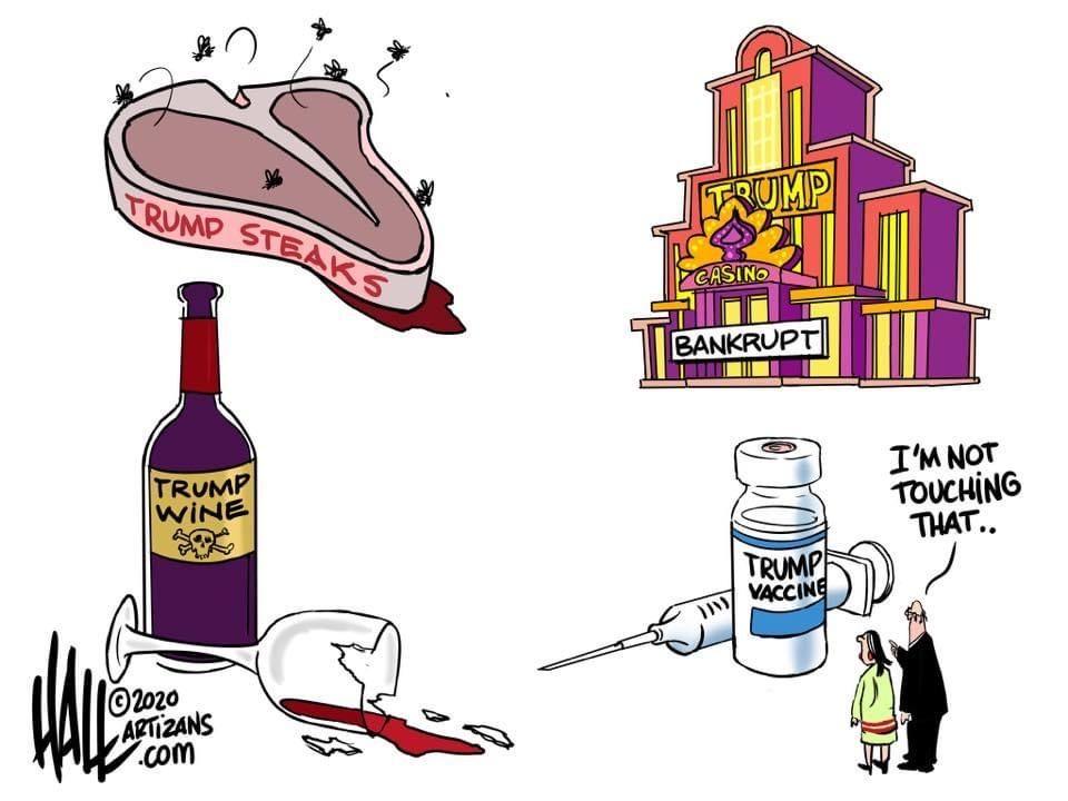 Pin by Kerri Page on Cartoons in 2020 | Trump wine, Political cartoons,  Trump steaks