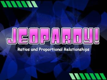 Ratios And Proportions Jeopardy Review Game Middle School Math