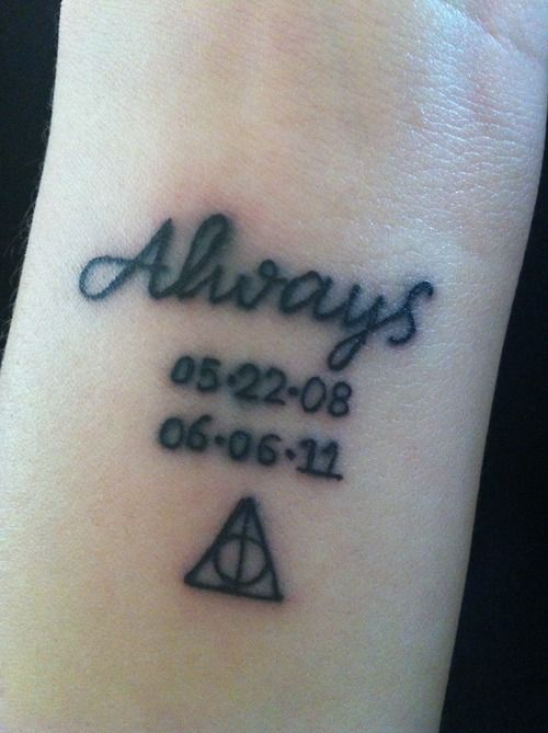 Harry Potter Has Had A Special Place In My Heart Since I Picked Up The First Book In The Seventh Grade Over Harry Potter Tattoos Inspirational Tattoos Tattoos