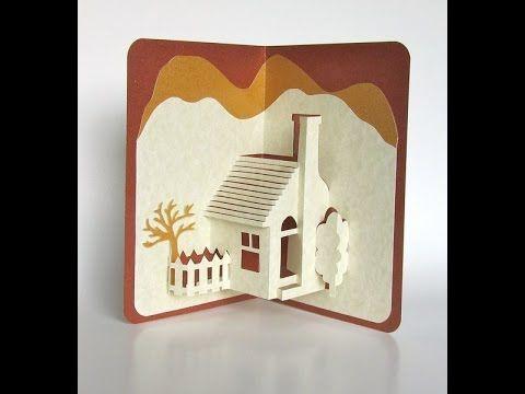 Pop Up 3d House Card Making Tutorial Kaarten 3d Kaarten Kaart Knutselen