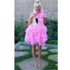 pin by ca rinchen on karnevalskost me flamingo kost m. Black Bedroom Furniture Sets. Home Design Ideas