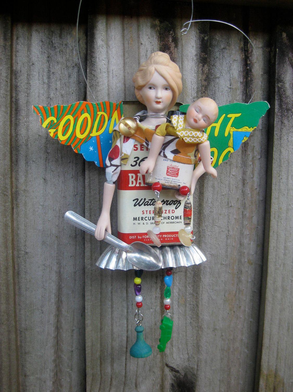 Thanks for Everything Motherhood Angel Assemblage. $85.00, via Etsy.