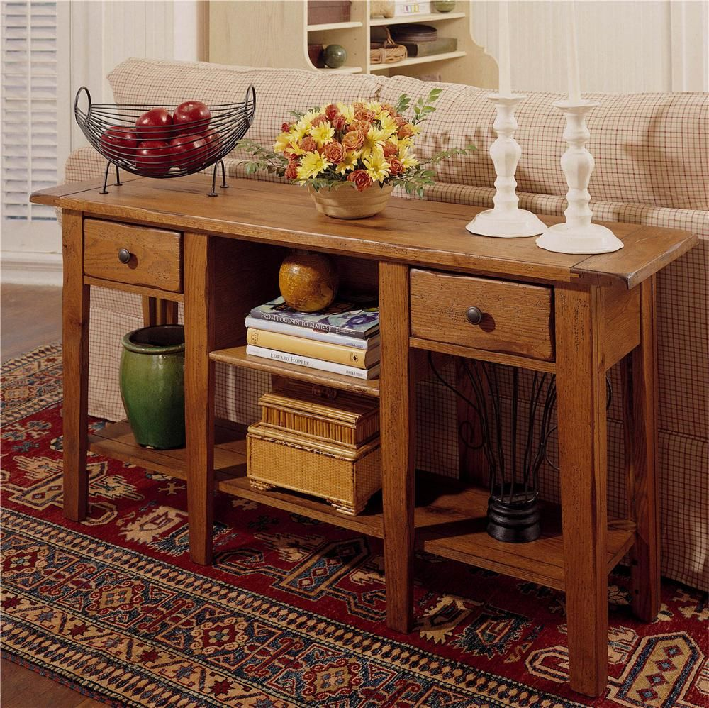 Attic Heirlooms Sofa Table By Broyhill Furniture Books