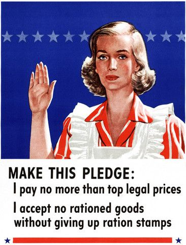 Make this Pledge. Vintage WWII poster. #vintage #ration #wwii