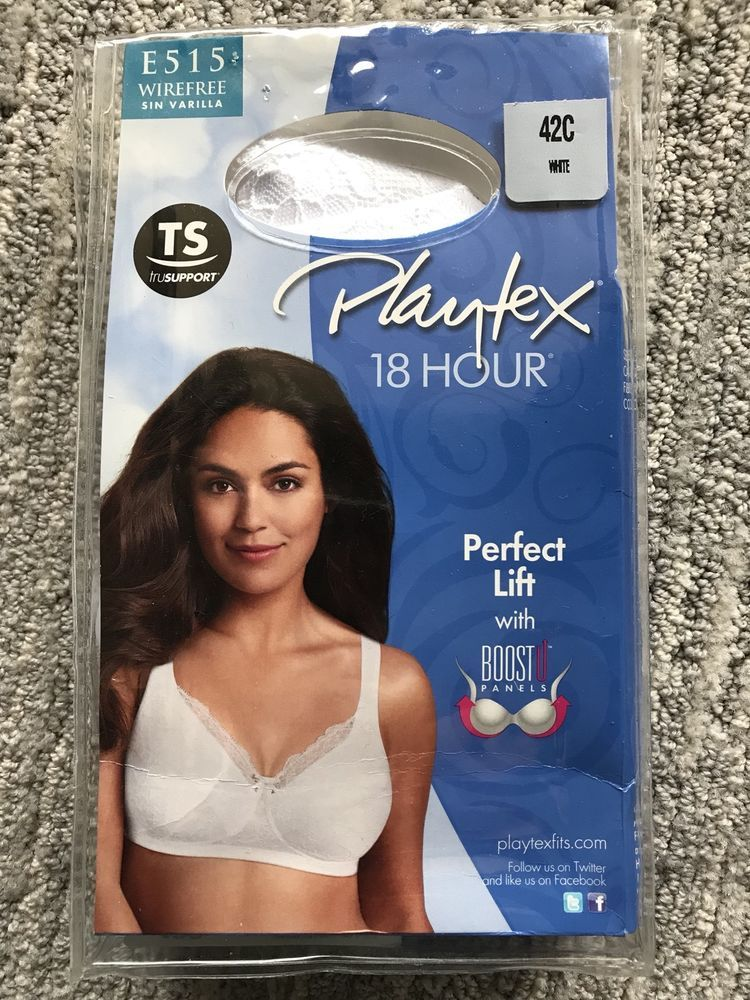 969a9b88ed Playtex 18 Hour Perfect Lift Wirefree Bra with Inner BoostU™ Panels E515  42C  Playtex  Wirefree