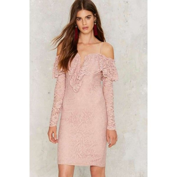 Gimme More Cold Shoulder Lace Dress ($43) ❤ liked on Polyvore ...