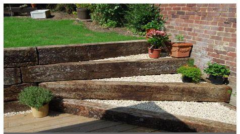 Railway Sleepers In Us Gardens Google Search Garden Layout Garden Steps Small Garden Design