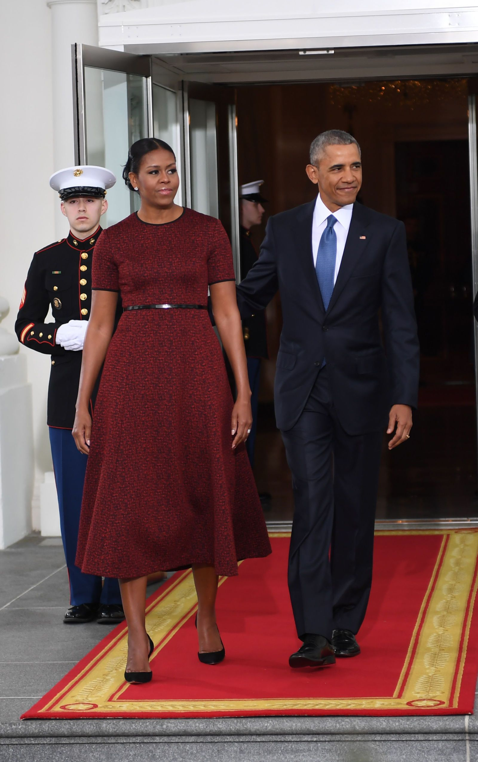 Michelle Obama Wears Red Jason Wu Dress For The Inauguration