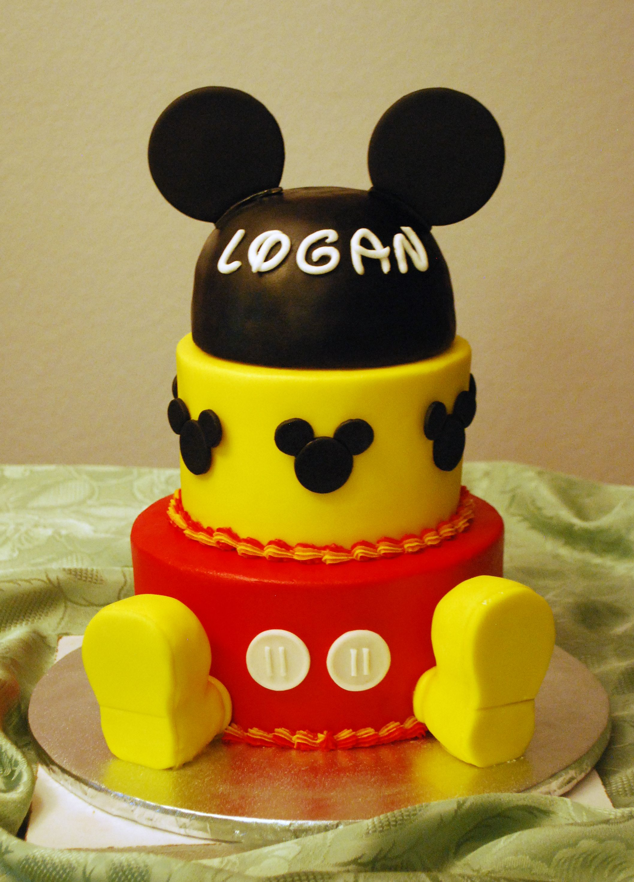 Mickey Mouse Baby Shower Cake Top Tier Wedding Cakes Medford Oregon