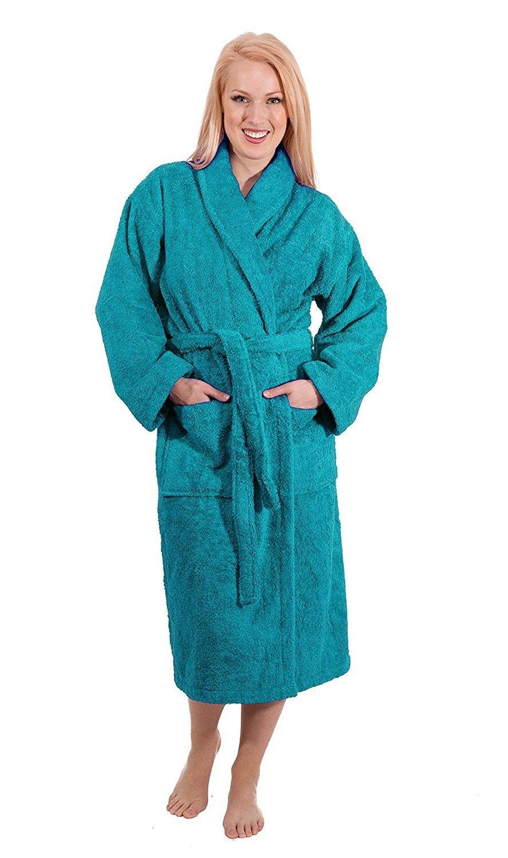 Luxury Terry Cloth Hotel Bathrobe - Premium 100% Turkish Cotton Robe ... d113b0b99