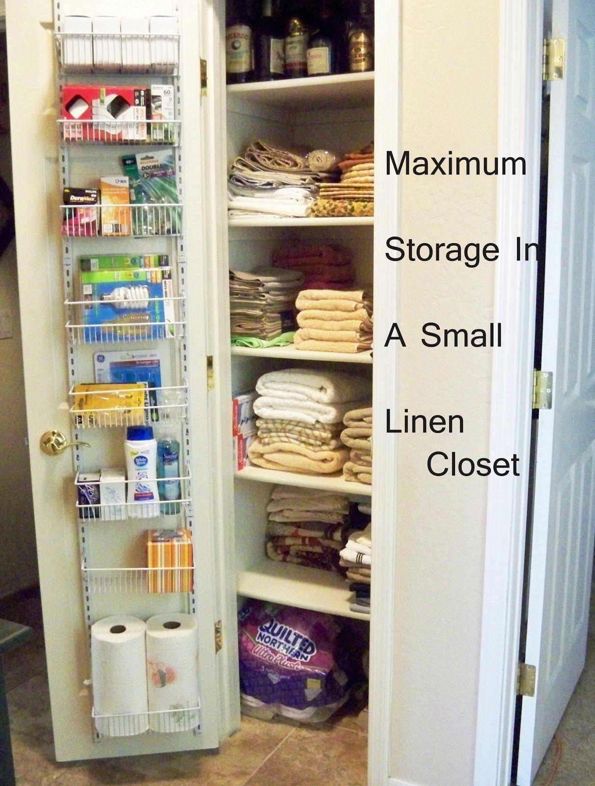 Superior Small Linen Closet Organization Ideas Part - 3: A Stroll Thru Life: Maximum Storage In A Small Linen Closet