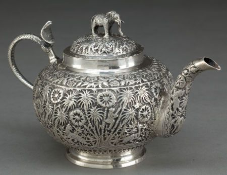 Indian Silver Tea Pot India Circa 1890 Tea Pots