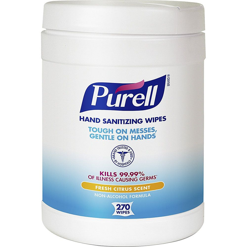 Purell Citrus Hand Sanitizing Wipes 6 X 6 3 4 270 Wipes Per