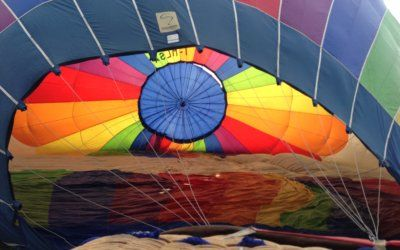 Balloon Flight Travel Experience. Amazing landscapes can be enjoyed even more during a hot air balloon ride!