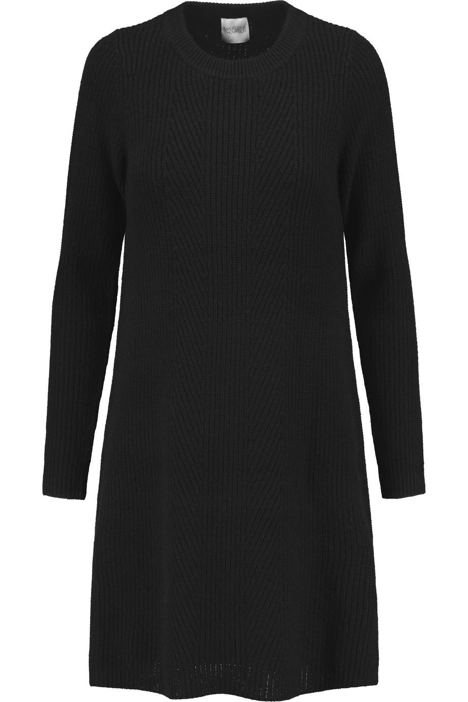 Madeleine Thompson Woman Ribbed Wool And Cashmere-blend Midi Dress Charcoal Size S Madeleine Thompson
