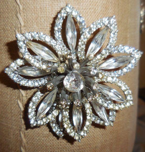 Weiss 3D Flower Brooch Gorgeous Graduate Gift by KrauseHaus