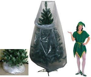 Christmas Tree Storage Bin Clear Poly Vinyl Christmas Tree Storage Bags Christmas Decor