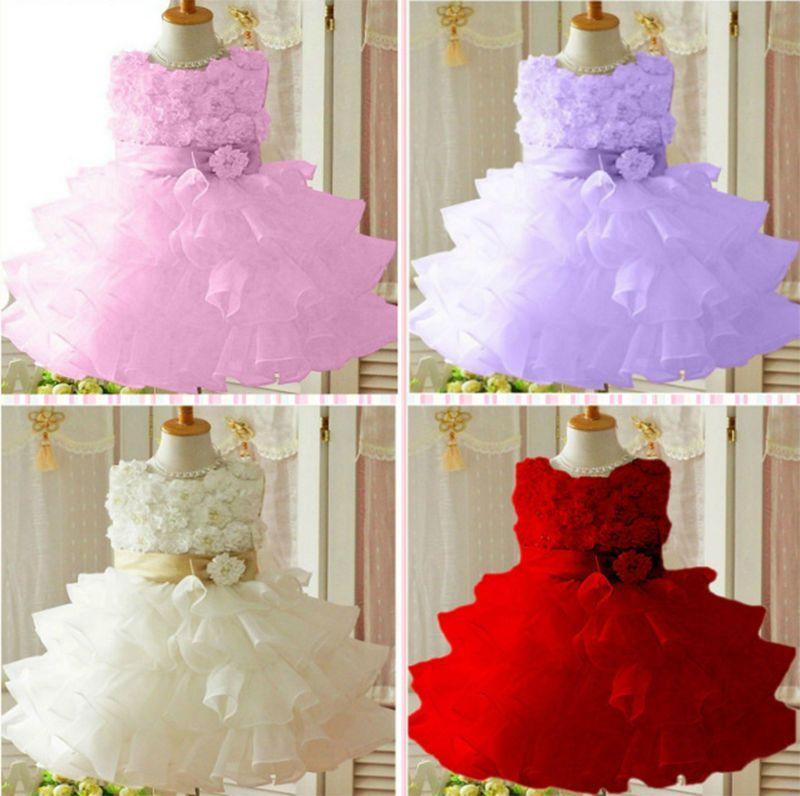 77885177d Kids baby Toddler Girl Flower Princess Wedding Party Pageant Fancy Dress  child | eBay https: