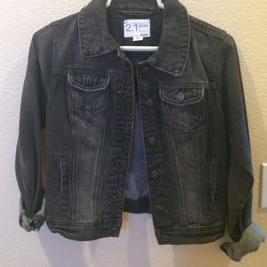 I just discovered this while shopping on Poshmark: Black jean jacket. Check it out!  Size: 2