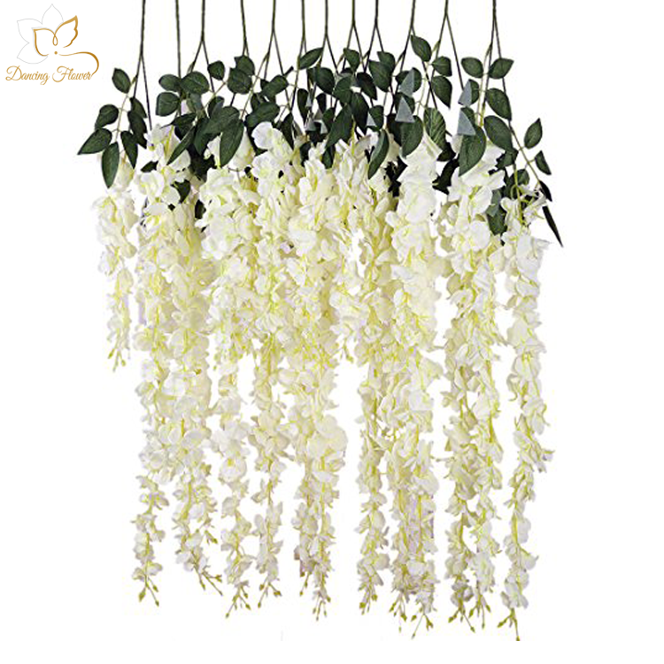 Hot Sale Artificial White Wedding Trees With Wisteria Flower Wishing Tree For Wedding Stage Decoratio Hanging Flowers Wedding Hanging Flowers Flower Chandelier