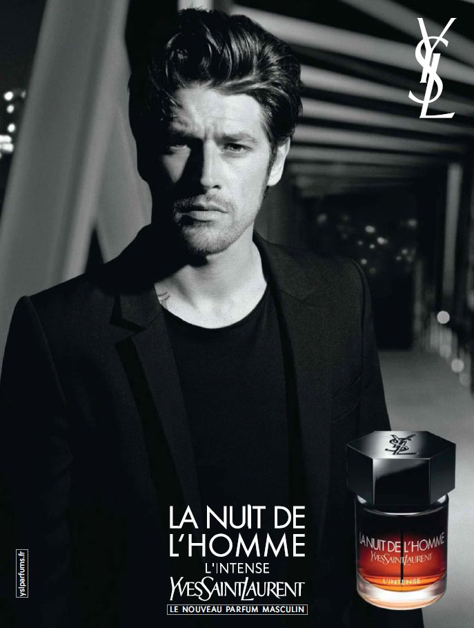 8b0e653fa1f Magazine advertisement for Yves Saint Laurent's La Nuit De L'Homme - Vinnie  Woolston